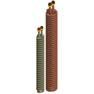 Extractable copper finned coils – G serie