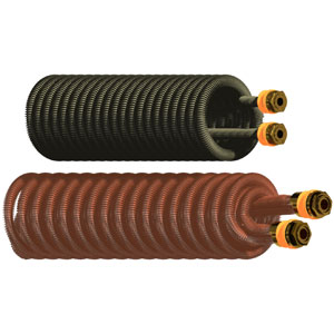 Extractable copper finned coils – standard serie