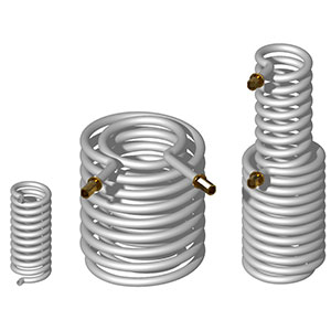 Smooth tube coils